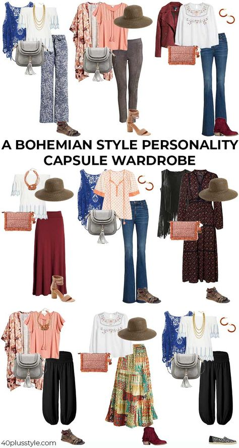 bohemian style - a style guide and capsule wardrobe for women