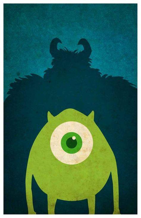 Disney Pixar movie poster set