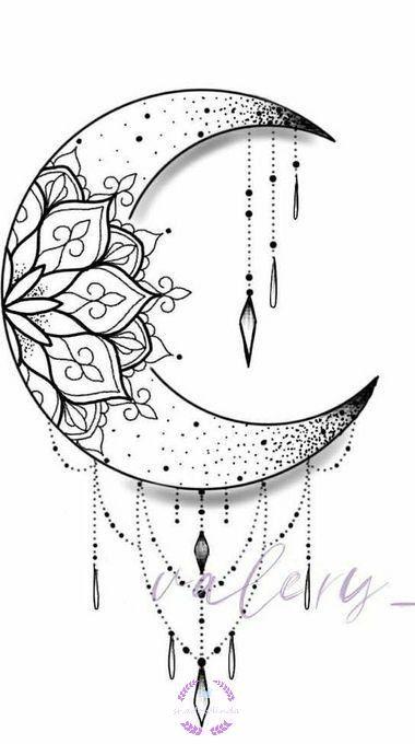 Moon Tattoo Designs, Mandala Tattoo Design, Henna Tattoo Designs, Tattoo Ideas, Butterfly Mandala Tattoo, Simple Mandala Tattoo, Flower Tattoo Designs, Doodle Art Drawing, Mandala Drawing