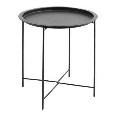 Randerup Side Table Black Black Side Table Round Side Table