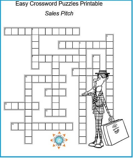 Easy Crossword Puzzles Printable For