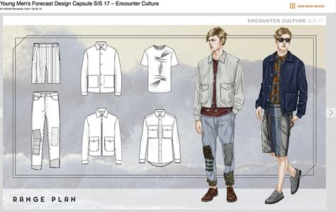 Menswear Designed and direction by : Jason Hall, Volker Ketteniss  Layout and technical drawings by WGSN menswear team  WGSN menswear Illu... #FashionTrendsSs17