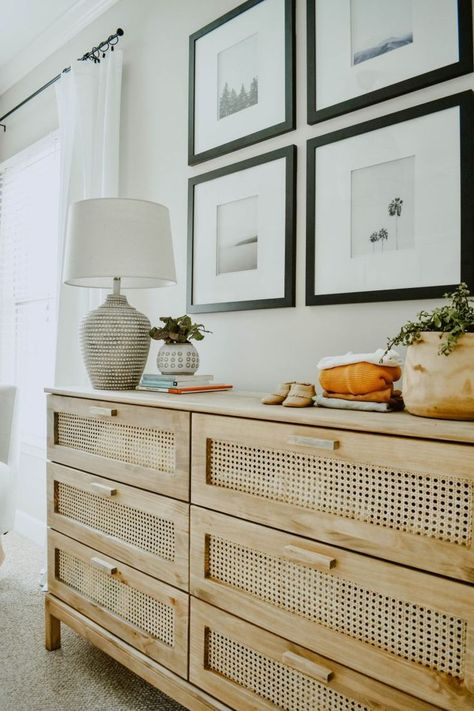 Looking for an easy DIY project with a BIG impact? Calling all DIYers, we DIY'd an IKEA Tarva Dresser hack and turned it into a Cane Dresser for $40!!