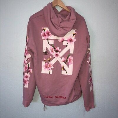 Authentic Off White Cherry Blossom Hoodie Slightly Warm White Cherry Blossom White Cherries Cherry Blossom