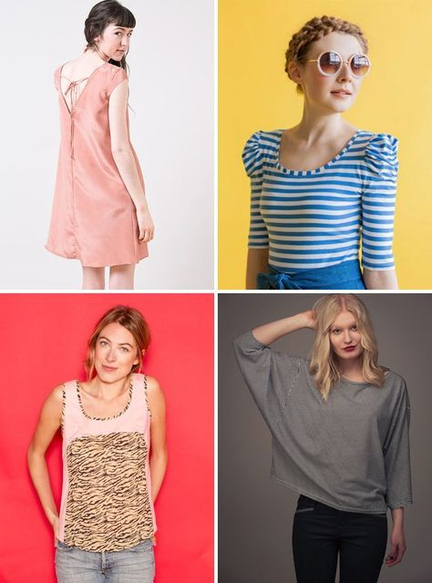 Whenever I teach new garment sewers, as I recently did at QuiltCon and at  Handcraft Studio School, I'm always asked what patterns they should tackle  next. Fortunately for sewers new to sewing clothing, there is a long list  of quality beginner patterns to pick from these days.  Below are my favorites, most of which I've sewn for myself (even  experienced sewers like easy projects!), but if you venture beyond these,  or wonder for the future what to look for, here are some key pointers to…