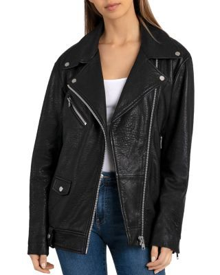 dc6c4da9 BAGATELLE.NYC Oversized Leather Moto Jacket | Bloomingdale's | What ...
