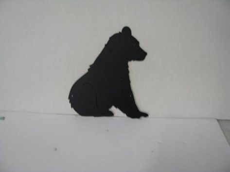 Bear Sitting Metal Wildlife Wall Yard Art Silhouette | CabinHollow ...