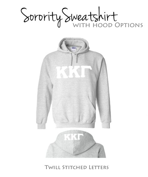 Kappa Kappa Gamma Sweatshirt I White Greek Letters $39.98