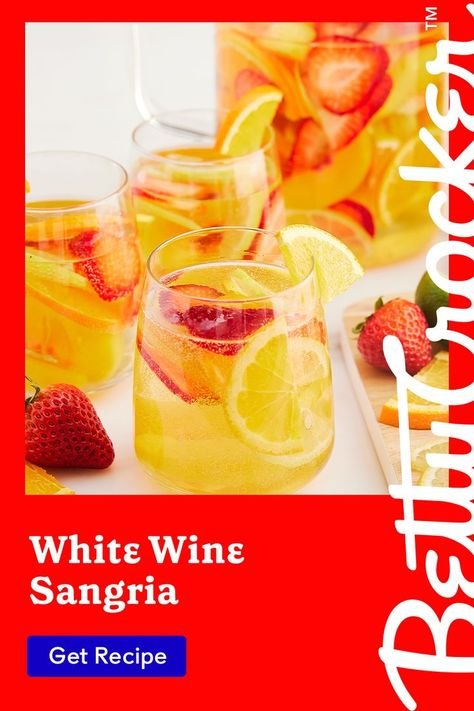 Our White Wine Sangria is a go-to refreshing summer drink. Pin today for the perfect cocktail.