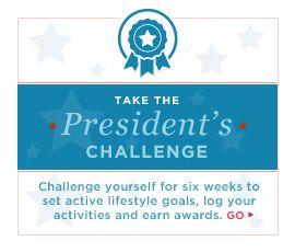 President's Challenge just 6 weeks to set active lifestyle goals, log activities and earn rewards from Letsmov.gov
