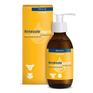 Antezole Liquid Suspension Is An Oral Dewormer For Dogs And Cats The Main Ingredient Is Pyrantel Pamoate The Potent F With Images Cat Dewormer Dog Cat Cat With Blue Eyes