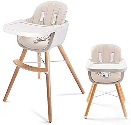 Amazon Com Asunflower Wood High Chair Toddlers 3 In 1 Convertible Modern Baby Highchair Solution For Ba Wood High Chairs Modern High Chair Wooden High Chairs