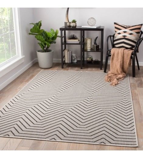 Gia Indoor Outdoor Rug Light Gray Area Rugs Black Area Rugs Geometric Area Rug