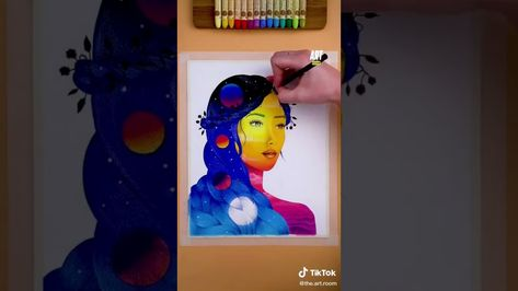 🧑🎨🎨🌖 fyp portrait foryou tutorial howtodraw - YouTube