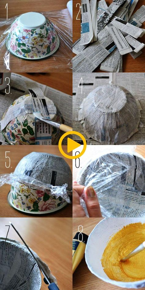 Pot of gold – papier mache jewelry bowl | Make A Cute Thing Every Day