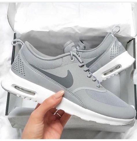 Grey Nike women's shoes