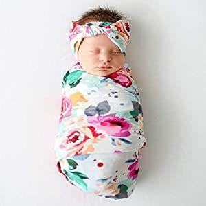 Bamboo baby blanket Newborn wrap bamboo knit Swaddle blanket newborn swaddle blanket Strech Baby Newborn Headband with bow