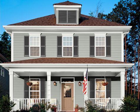 house paint on pinterest exterior paint colors exterior colors and traditional exterior. Black Bedroom Furniture Sets. Home Design Ideas