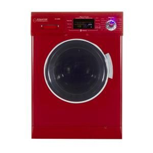 Deco 1 57 Cu Ft Merlot High Efficiency Vented Ventless Electric All In One Washer Dryer Combo Dc 4400 N M The Home Depot In 2020 Washer Dryer Combo Washer And Dryer Compact Washer
