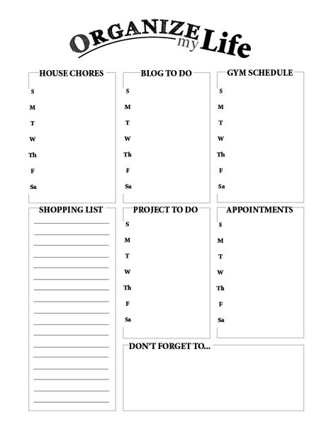 Another downloadable to-do list template