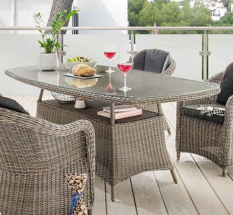 Destiny Tisch Luna Polyrattan 180x100 Cm Otto In 2020 Gartenmobel Sets Polyrattan Tisch