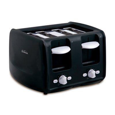 Sunbeam Tssbrt4sl 4 Slice Toaster With Retractable Cord Toaster Cord Slot