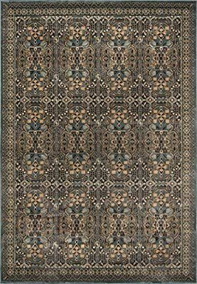 Amazon Com Momeni Rugs Belmobe 07lbl93c6 Belmont Collection Traditional Area Rug 9 3 X 12 6 Light Blue Kitch Traditional Area Rugs Momeni Rugs Area Rugs
