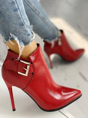 5076f7ea0f2 Snakeskin Point Toe Thin Heeled Ankle Boots | Boots in 2019 | Shoes ...