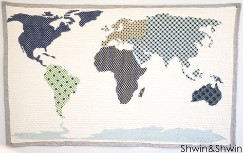 World Map Quilt - free pattern