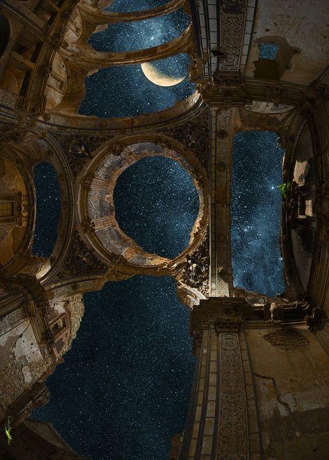 Belchite Nuit, par Carlos Santero