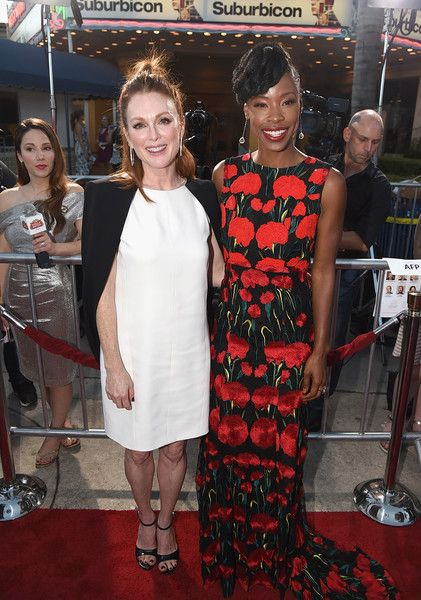 Julianne Moore and Karimah Westbrook attend the Premiere of Paramount Pictures' 'Suburbicon.'