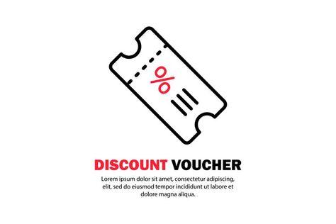 Discount ticket or shopping voucher icon. Vector (1282350)   Icons   Design Bundles