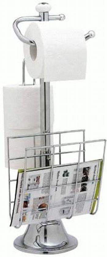 Stojak Na Papier Toaletowy Plus Półka Na Gazety łazienka