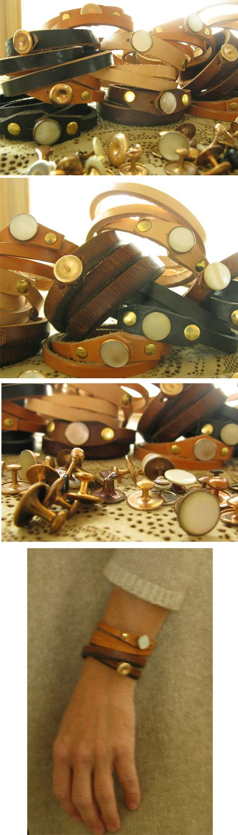 How to make your own leather )& other materials) bracelets