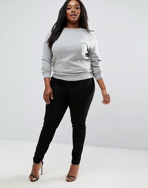 Shop the latest ASOS DESIGN Curve Lisbon mid rise skinny jeans in clean black trends with ASOS! Free delivery and returns (Ts&Cs apply), order today!