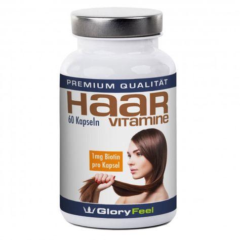 Haar Vitamine neu bei Gloryfeel. Zur Verbesserung der Haarstruktur, schnelleres Haarwachstum, bei Haarausfall - mit Biotin.