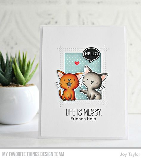 Stamps: BB Cat-astrophyDie-namics: BB Cat-astrophy, LJD Rectangle Peek-a-Boo WindowJoy Taylor#mftstamps