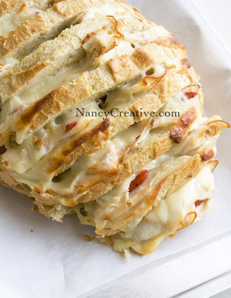 Cheesy stuffed sourdough bread. Yummy. Can't stop eating this!