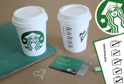 Show Thanks to Teachers with this Creative Starbucks Gift | Alpha Mom