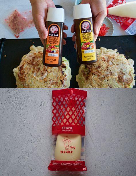 Bulldog brand sauce and Kewpie mayonnaise.