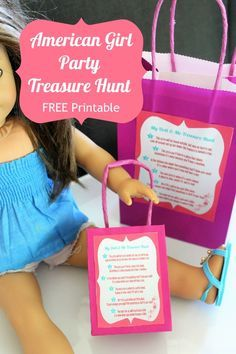 My Doll And Me Treasure Scavenger Hunt With Printables In 2020 American Girl Birthday Party American Girl Parties American Girl Birthday