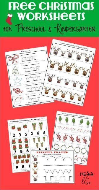 Free Preschool And Kindergarten Worksheets For Christmas Christmas Worksheets Kindergarten Christmas Worksheets Christmas Kindergarten Christmas worksheets for toddlers age 2