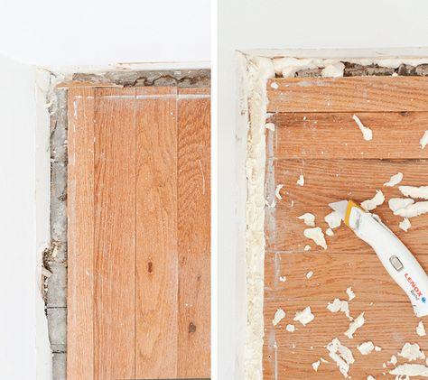 Baseboard How To Workroom Progress Baseboards Floor Trim Spray Insulation
