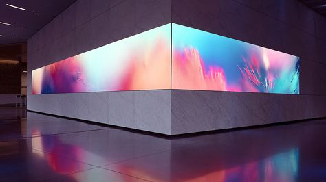 Collide – synaesthetic art installation, Dolby Laboratories in San Francisco, by onformative .com