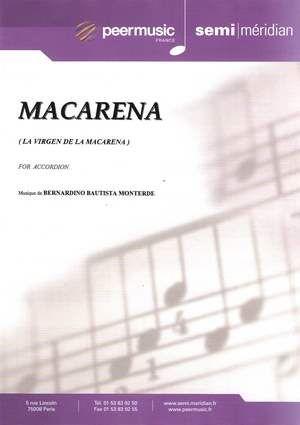 Macarena La Virgen De La Macarena Marchands 30 Partition Accordeon Partitions De Chansons Accords De Guitare