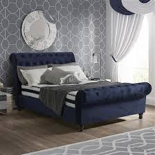 Image Result For Navy Blue Velvet Bed Frame Bed Frame Bedroom