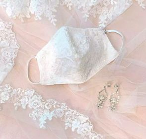 """These beautiful and fashionable facemasks will definitely allow brides to elegantly """"social distance"""" on their wedding day!  #blueoceaneventcenter #weddingsonthewater #oceanfrontvenue #eventplanning #weddingplanning #wedding #salisburybeach #salisburyma #northshorema #happilyeverafter #weddingtrends #weddings #weddingdecor #weddingday #weddingdaysaves #weddingseason #weddingszn"""