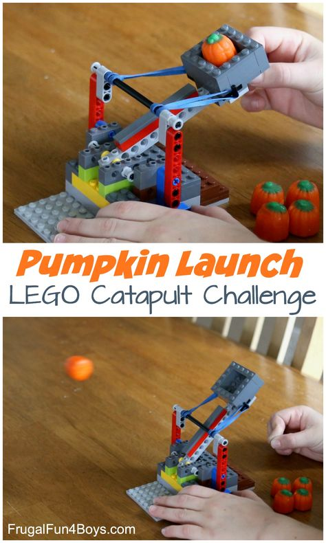 How to Build a Catapult with LEGO Bricks Pumpkin Launch! How to Build a Catapult with LEGO Bricks - fun STEM activity for fallPumpkin Launch! How to Build a Catapult with LEGO Bricks - fun STEM activity for fall Lego Duplo, Lego Technic, Lego Toys, Lego Games, Lego Club, Lego Projects, Projects For Kids, Stem Activities, Activities For Kids