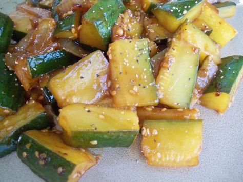 Japanese Zucchini And Onions Recipe Food Recipes Food