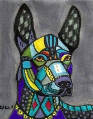 Xoloitzcuintle Dibujado Patrones De Encaje Perro